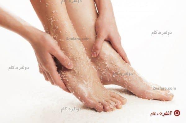 پاهای سلامت با آب و نمک