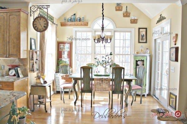 آشپزخانه مدل فرانسوی به سبک ییلاقی