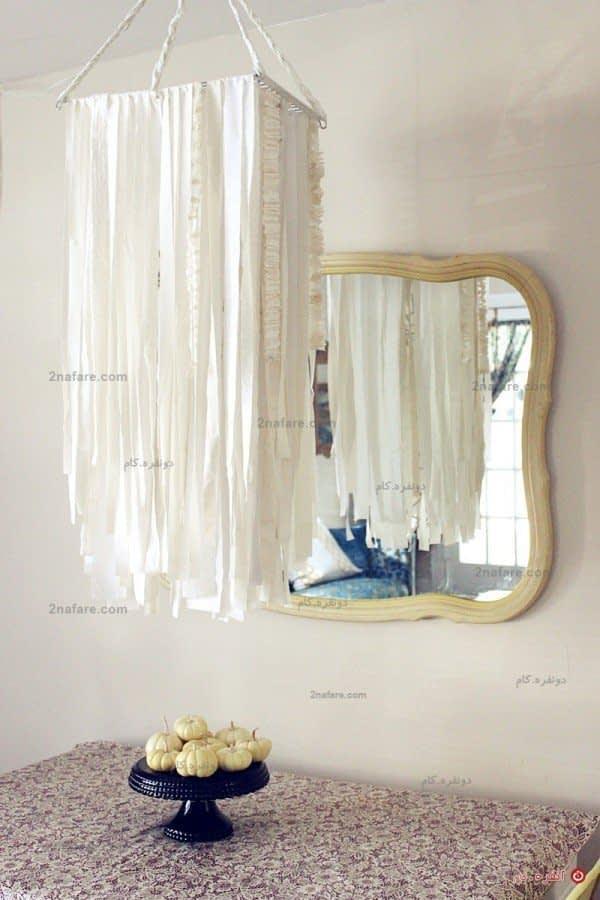 آویز دیواری و سقفی با ترکیب سفید، ساده اما زیبا