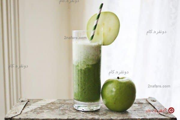 اسموتی سبز - سیب و اسفناج