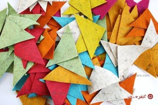 تکه های مثلثی