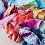 رنگ کردن پارچه ساده به رنگهای ابر و بادی