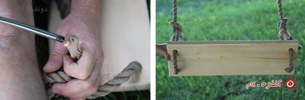 رد کردن ریسمان و گره زدن طناب