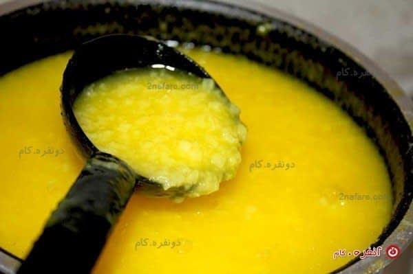 طرز تهیه شله زرد