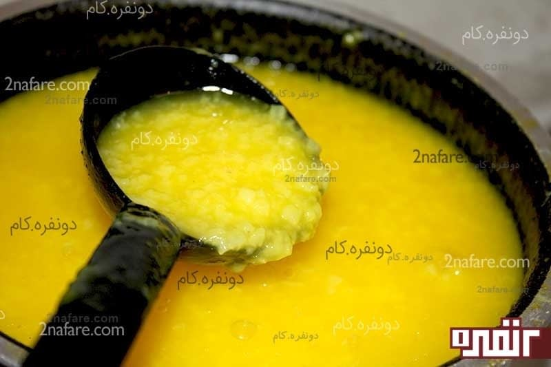 طرز تهیه شله زرد دسر خوشمزه و سنتی • دونفره