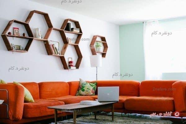 قفسه های لانه زنبوری با حسی نوستالوژیک برای سالن خانه بسیار زیبا و دوست داشتنی هستند