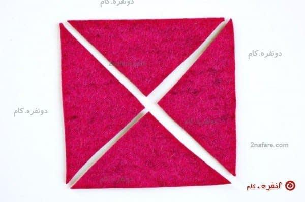 مثلثی بریدن پارچه