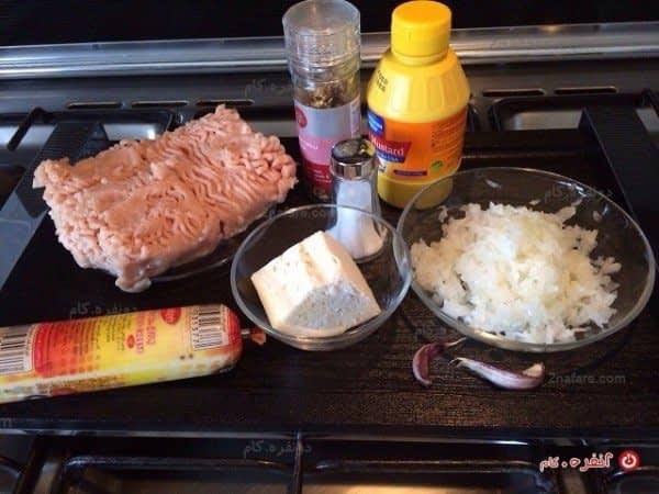مواد لازم برای تهیه ناگت مرغ