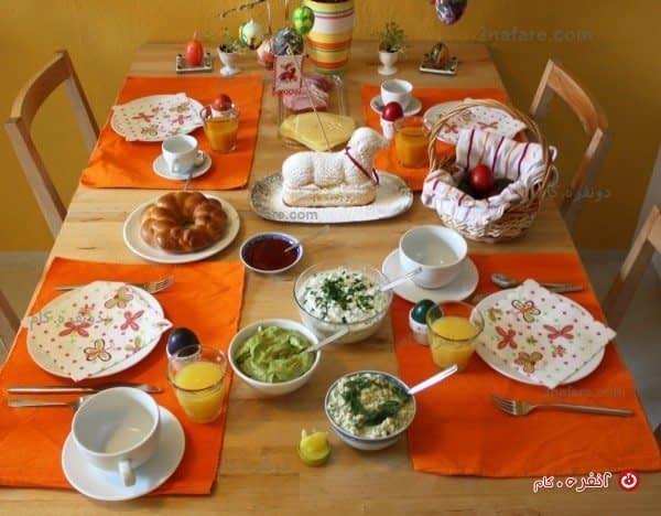 میز صبحنه خودمانی