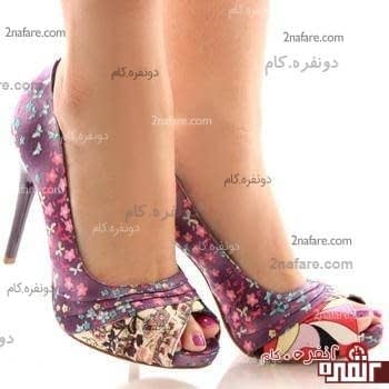 کفش تابستانه پارچه طرحدار