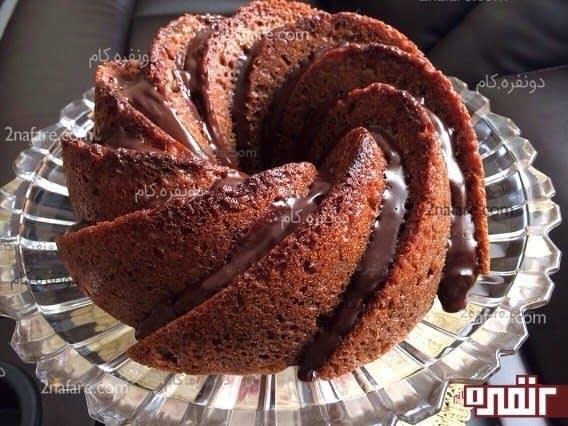 کیک آماده با روکش شکلات