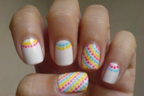طرح نقطه های رنگارنگ