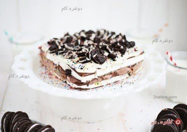آسان ترین کیک بستنی دنیا