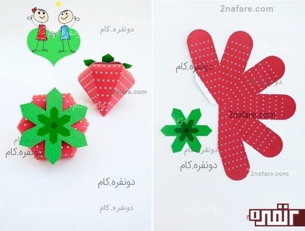 آموزش ساخت جعبه کادو توت فرنگی