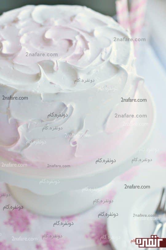 تزیین کیک با قاشق