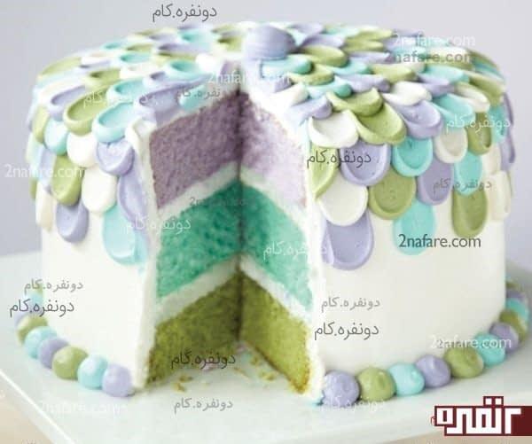 تزیین کیک با ماسوره و قاشق