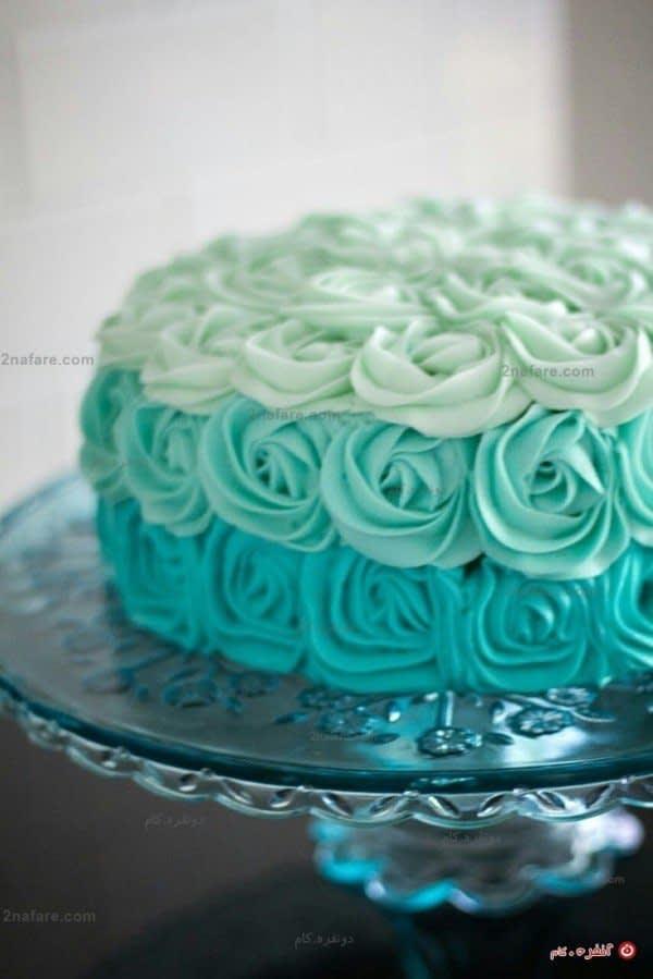 تزیین کیک به شکل رز