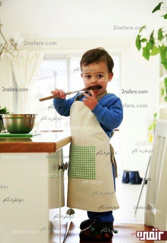 دوخت پیش بند آشپزخانه