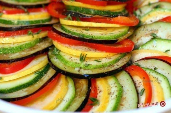رتتوئی، خوراک فرانسوی