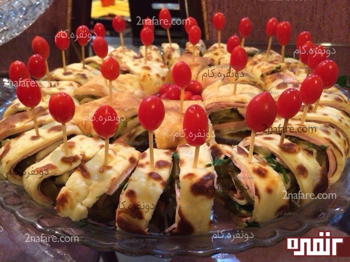 طرز تهیه پیش غذای رولت ژامبون (کالباس) • دونفره