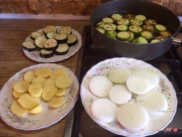 سبزیجات حلقه شده