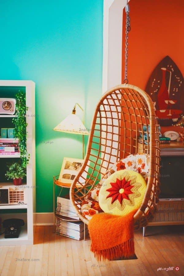 صندلی ننویی آرامش بخش نقطه ی عطف بین دو قسمت خانه