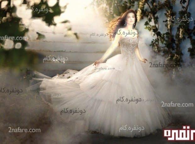 لباس عروس پفی اسکارلت