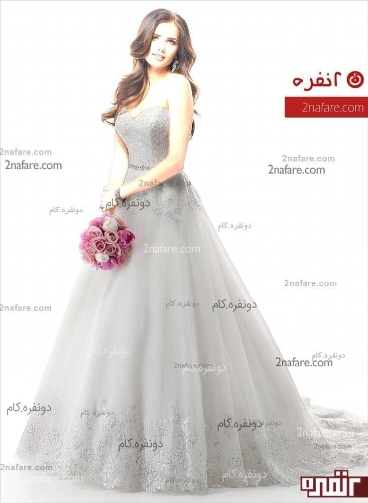 پارچه دانتل لباس عروس زیباترین مدل های لباس عروس پرنسسی و پفی • دونفره