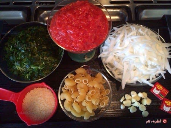 مواد لازم برای تهیه سوپ ماکارونی