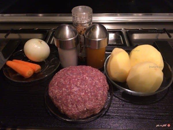 مواد لازم برای تهیه کتلت