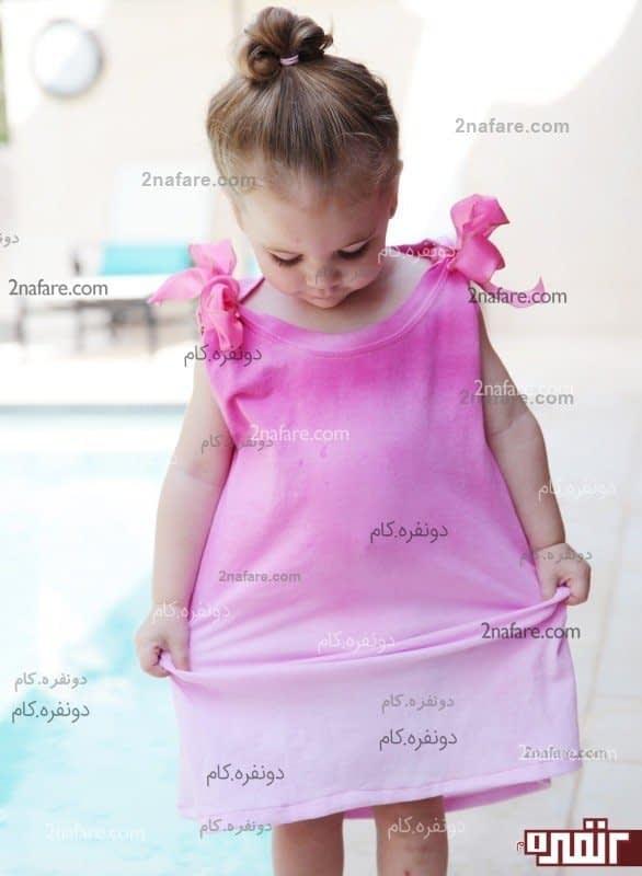 پیرهن دست ساز برای دختر کوچولوها