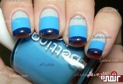 طرح آبی - سه رنگ