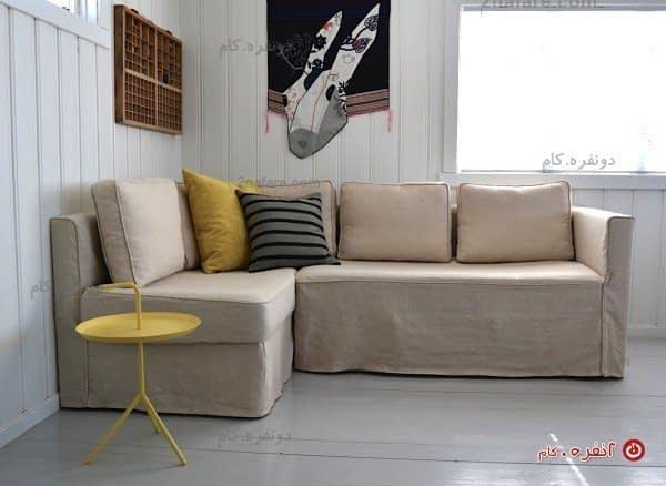 راحت ترین کاناپه با طرحی مدرن به رنگ کرم