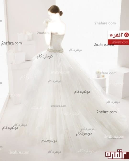 لباس عروس اسکارلت دنباله دار