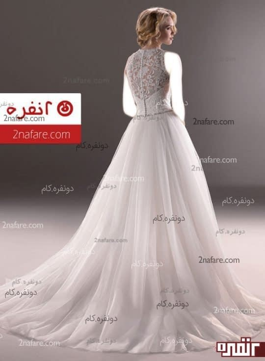لباس عروس تور کم پف