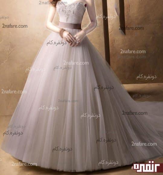 لباس عروس تور دنباله دار