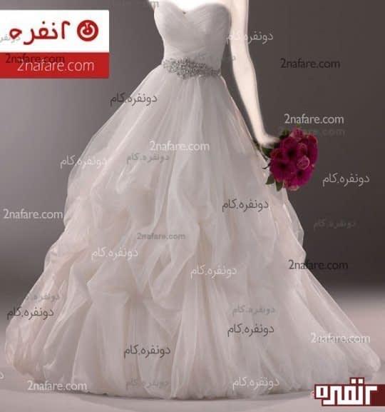لباس عروس اسکارلت و تور