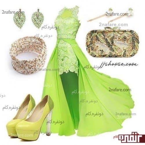 مجموعه ای به رنگ سبز و شاد برای مجلسی شاد