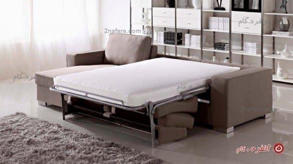 ویژگی تخت خواب شو بودن به رنگ طوسی