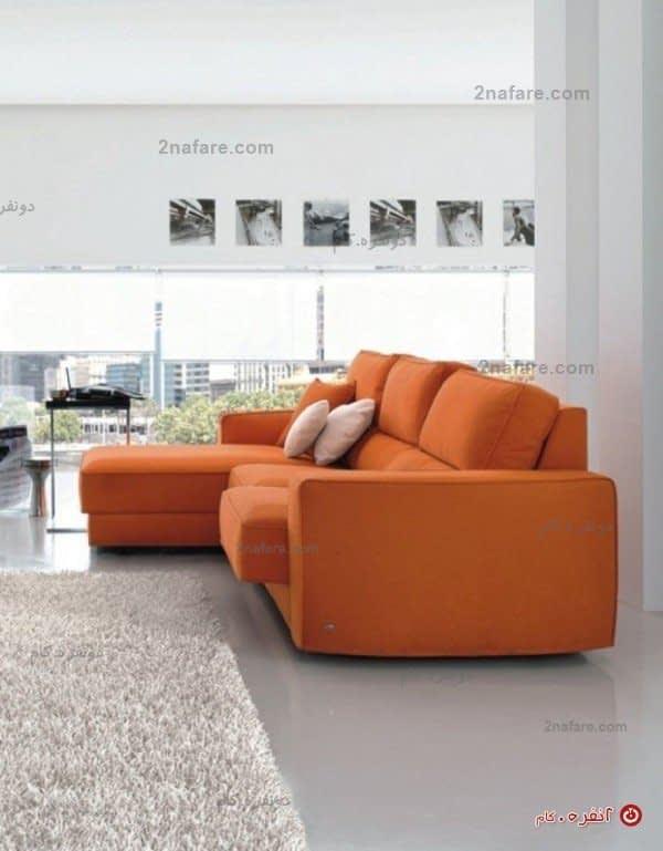 کاناپه راحتی مدرن نارجی رنگ
