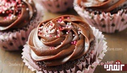 کاپ کیک شکلاتی با دستور اون نفر عزیز