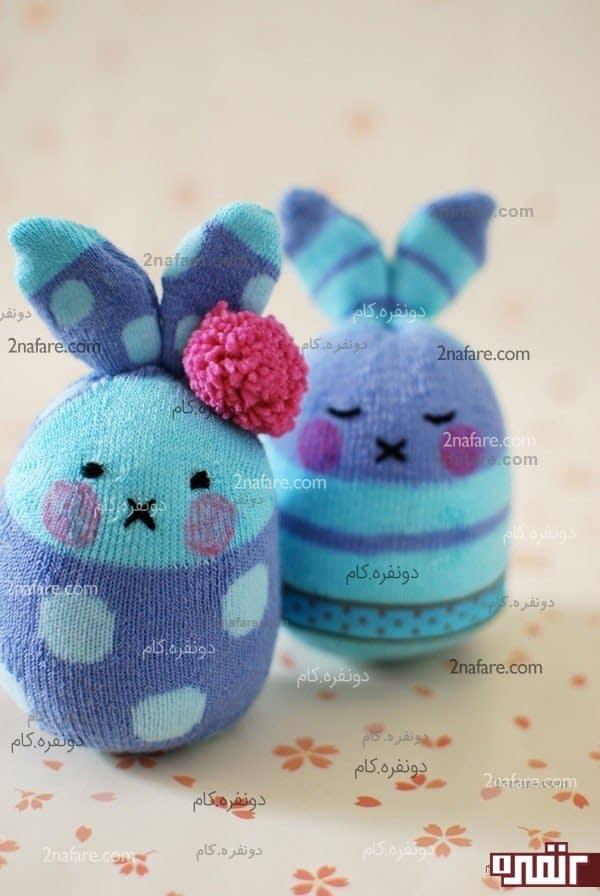 عروسک خرگوش با جوراب
