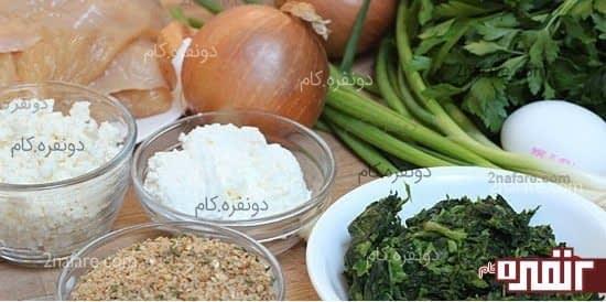 مواد لازم برای تهیه رول مرغ