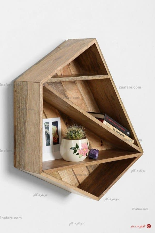 قفسه دکوری با فرم هندسی