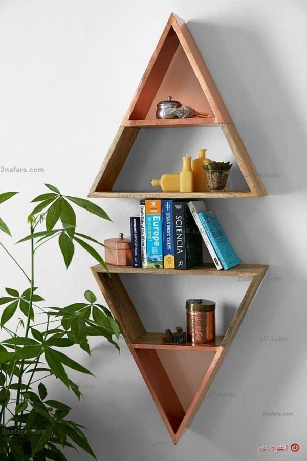 قفسه دکوری مثلثی زیبا