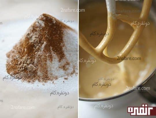 مراحل تهیه کیک هویج