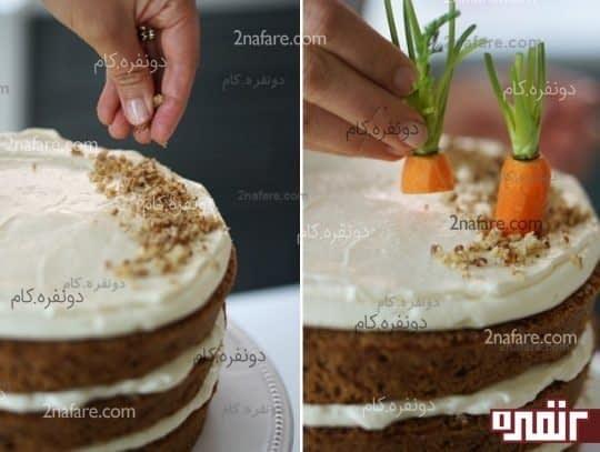 کیک هویج با کرم پنیر خامه ای
