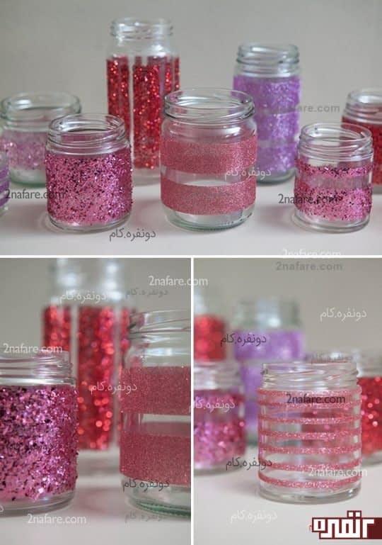 جا شمعی های زیبا با شیشه مربا