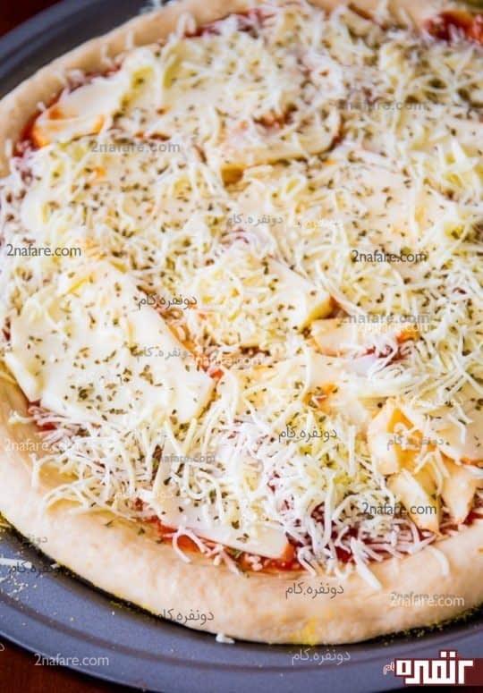 طرز تهیه پیتزا پنیری