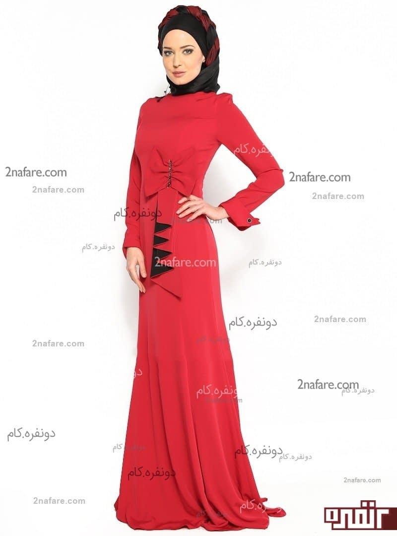 مدل لباس مجلسی بلند پیله دار مدل لباس مجلسی آستین بلند • دونفره